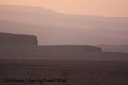 Dusty sunset hills