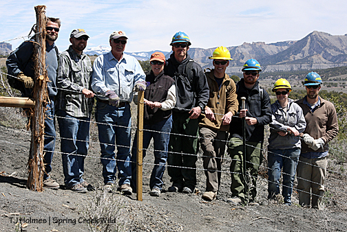 Dave, Derrick (BLM), Tom Kelly, Kathe Hayes, Kevin, Kevin, Paul, Sara and Sean.