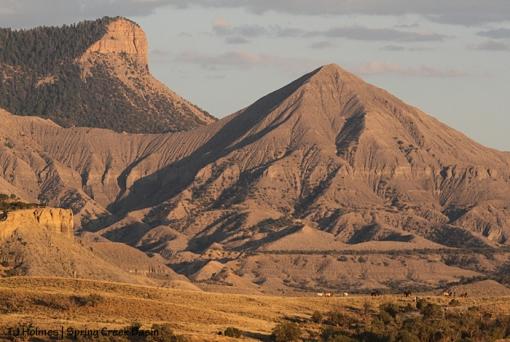 Spring Creek Basin, mustangs, McKenna Peak, unnamed promontory.