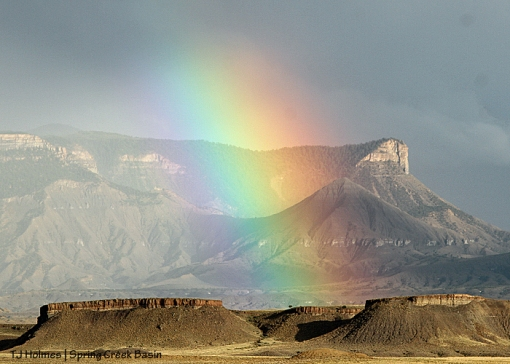 Rainbow over Spring Creek Basin.