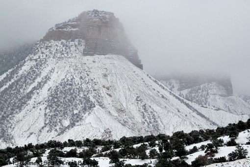 Temple Butte in snow