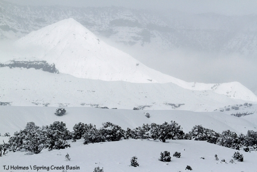 Snow on McKenna Peak.