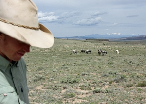Ben Masters with Chrome's band in Spring Creek Basin.