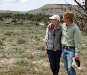 Katie and Ben Masters in Spring Creek Basin's east pocket with Comanche's, Aspen's and Hollywood's bands.