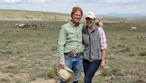Katie and Ben Masters in Spring Creek Basin with Chrome's band.