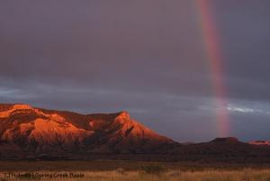 Rainbow over Spring Creek Basin.