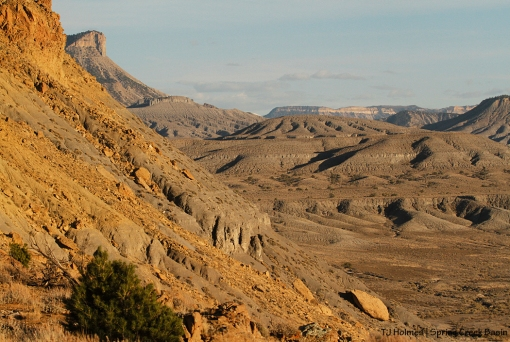 Temple Butte, Round Top, Flat Top and Brumley Point from Filly Peak.