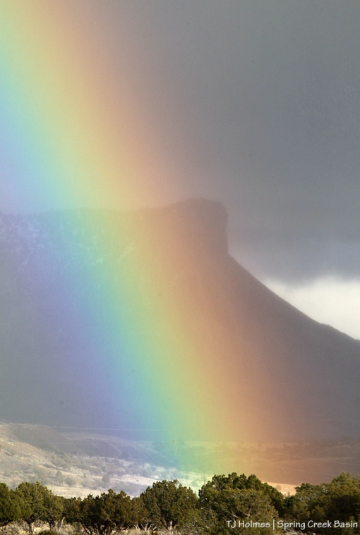 Rainbow over Temple Butte