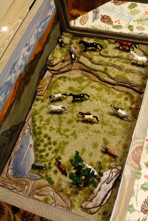 Model of Spring Creek Basin mustangs by Bebe June Mantooth, Troy, Texas.