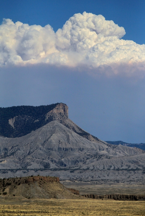 The 416 Fire (north of Durango) from Disappointment Valley.