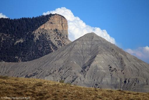 McKenna Peak and Temple Butte ... 416 Fire (Durango) plume behind.