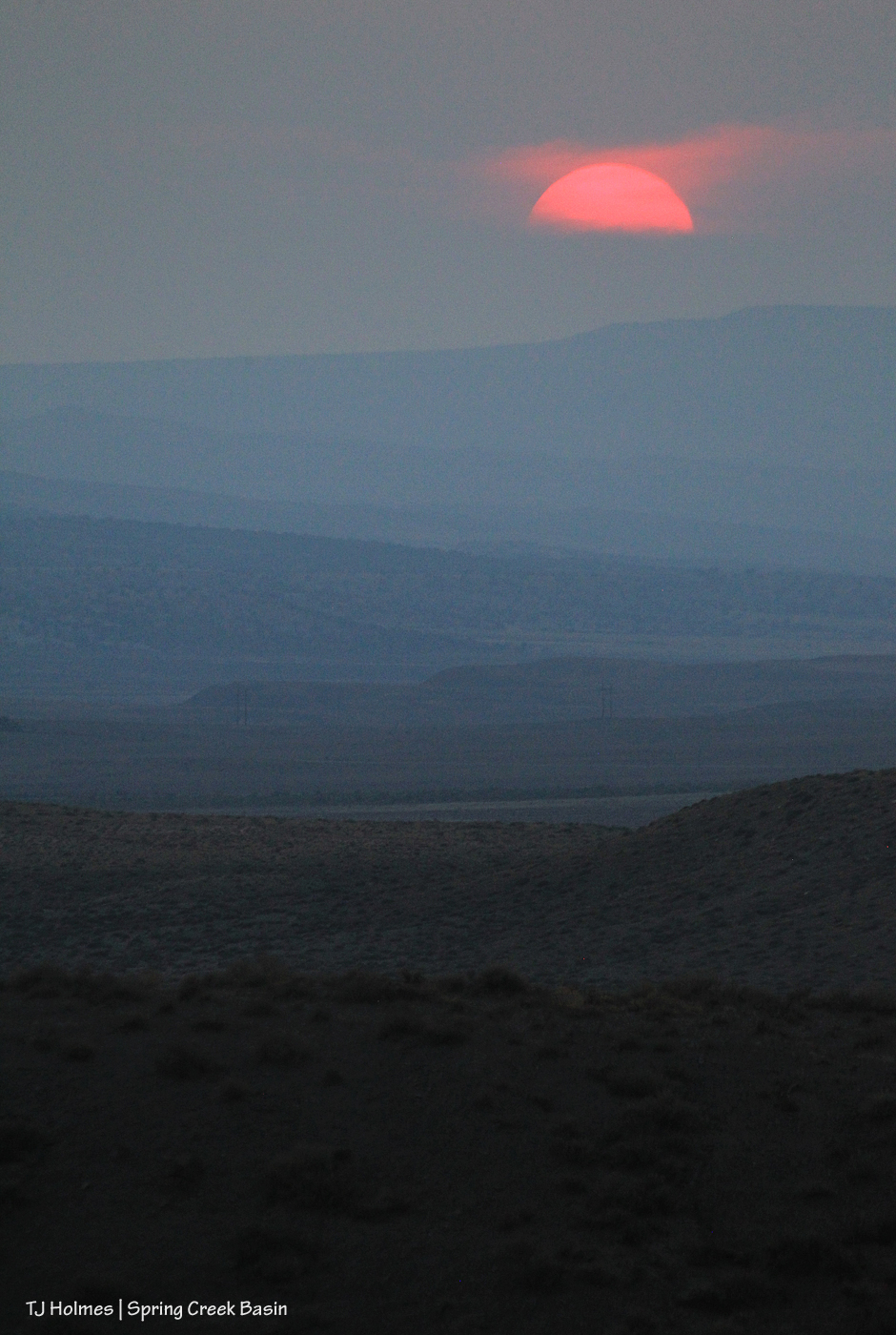 Sunset over Disappointment Valley.