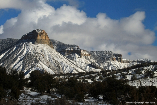 Temple Butte from Spring Creek Basin